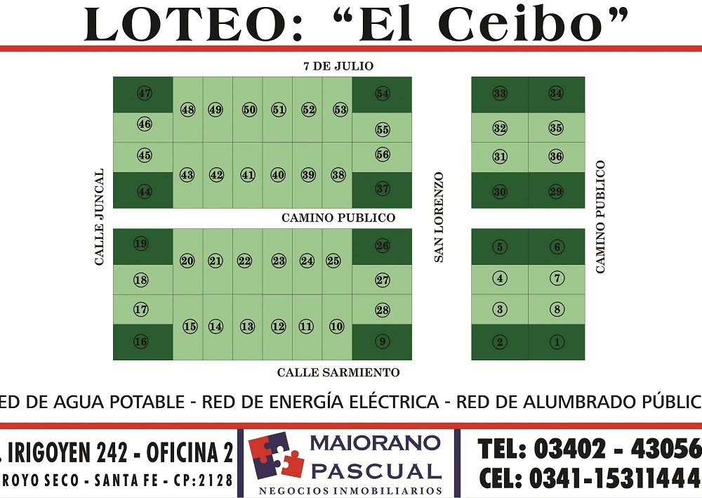 """LOTEO """"EL CEIBO""""- ÁLVAREZ"""
